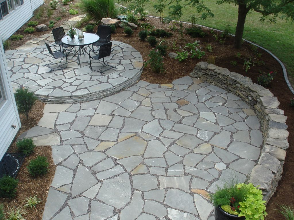 Flagstone Patio Jardin Pinterest Flagstone Patio Patio And