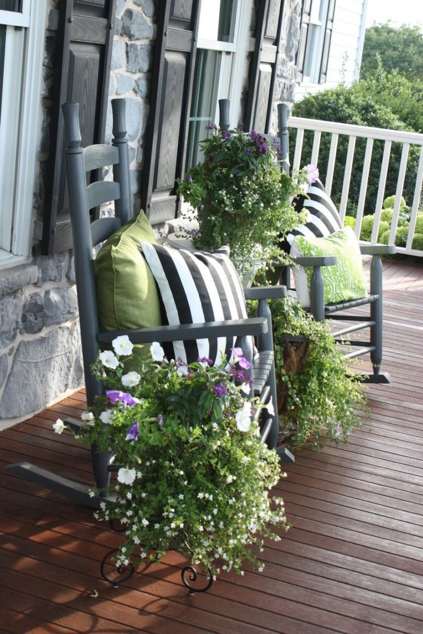 Flower Pots Ideas For Front Porch Front Porch Design Idea With