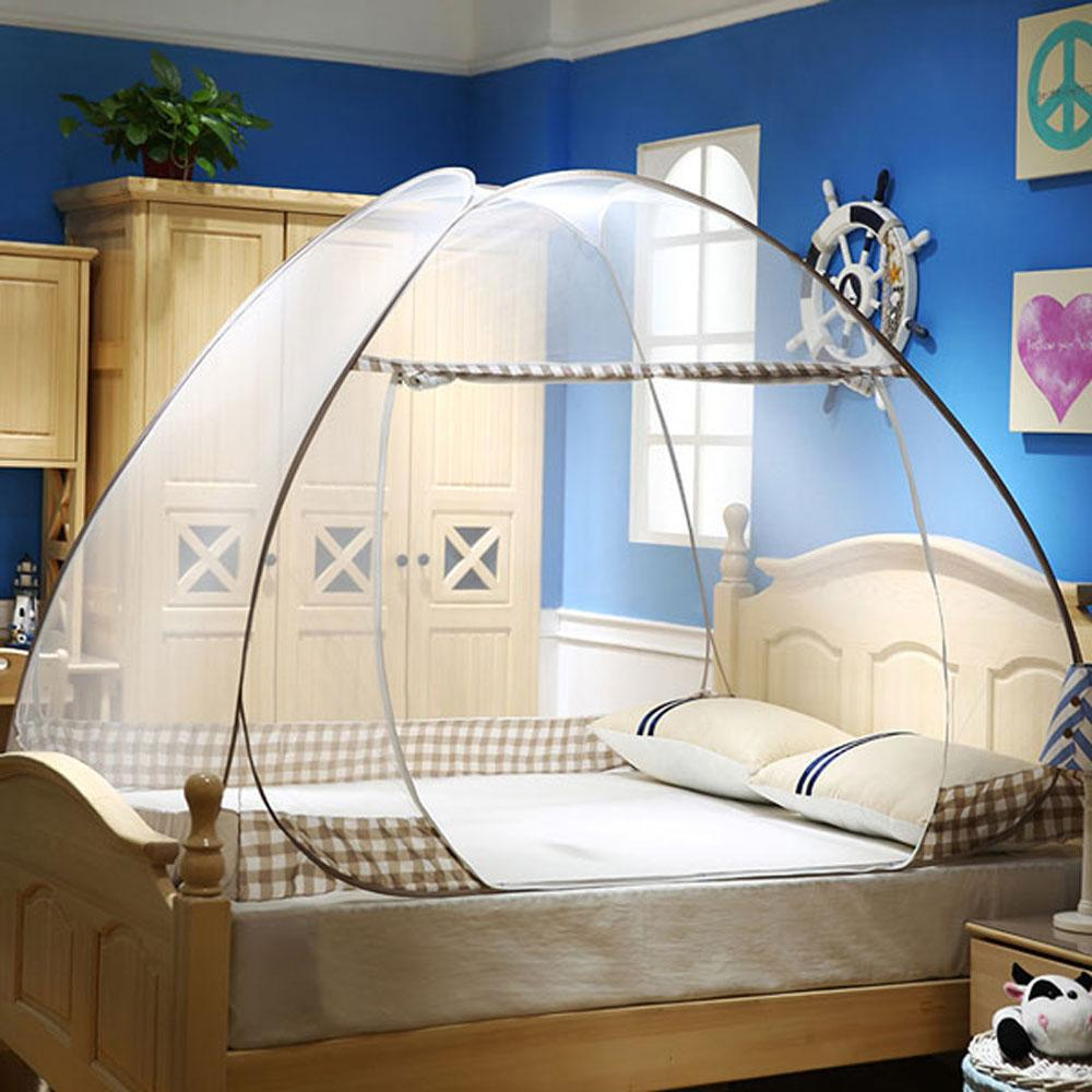 Free Standing Pop Up Mosquito Net Tent Bed Canopy With Bottom Floor
