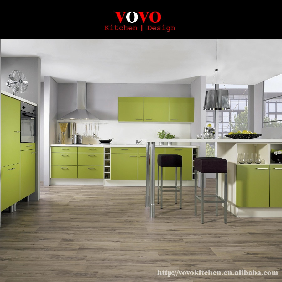 Fresh Green Lacquer Kitchen Cabinet In Kitchen Cabinets From Home