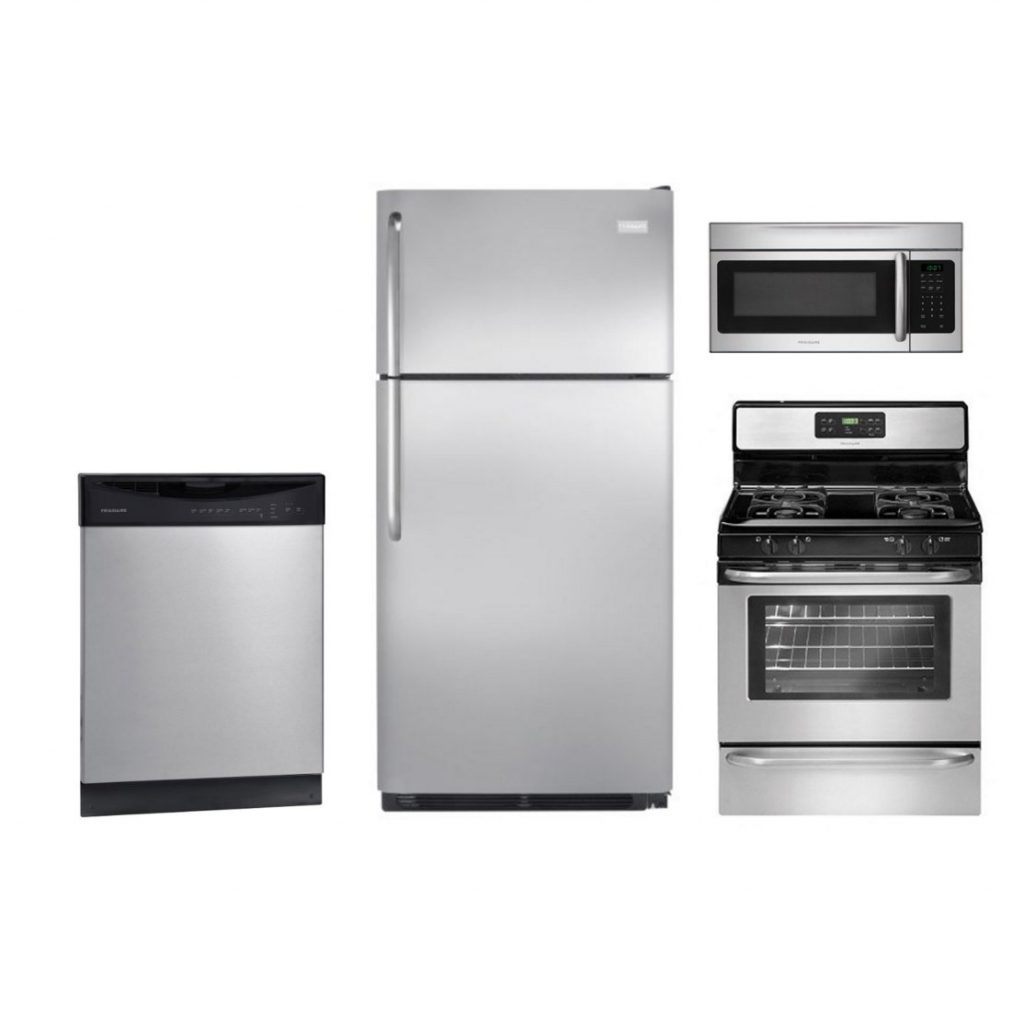 Frigidaire 4 Piece Gas Kitchen Appliance Package With 18 Cu Ft