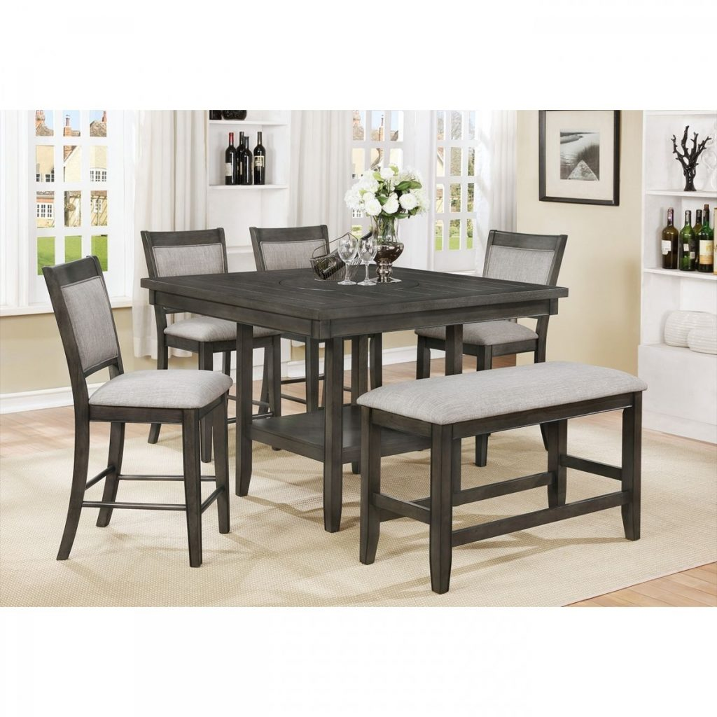 Fulton Gray 5 Pc Counter Height Dining Room Badcock More