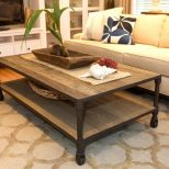 Furniture Rustic Living Room Coffee Table Design With Roller