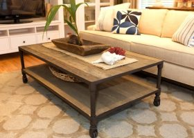 Rustic Living Room Coffee Table