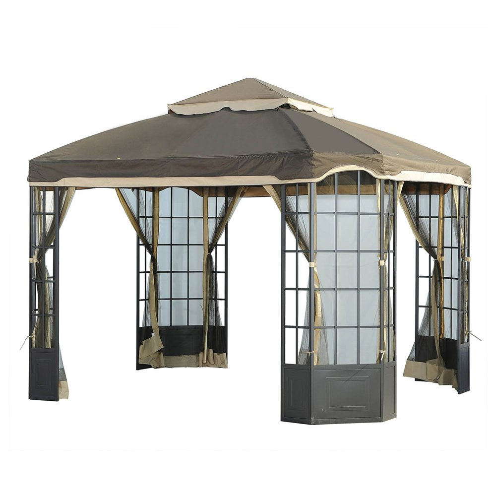 Garden Oasis Bay Window 10 X 12 Gazebo L Gz120pst 2 Garden Winds