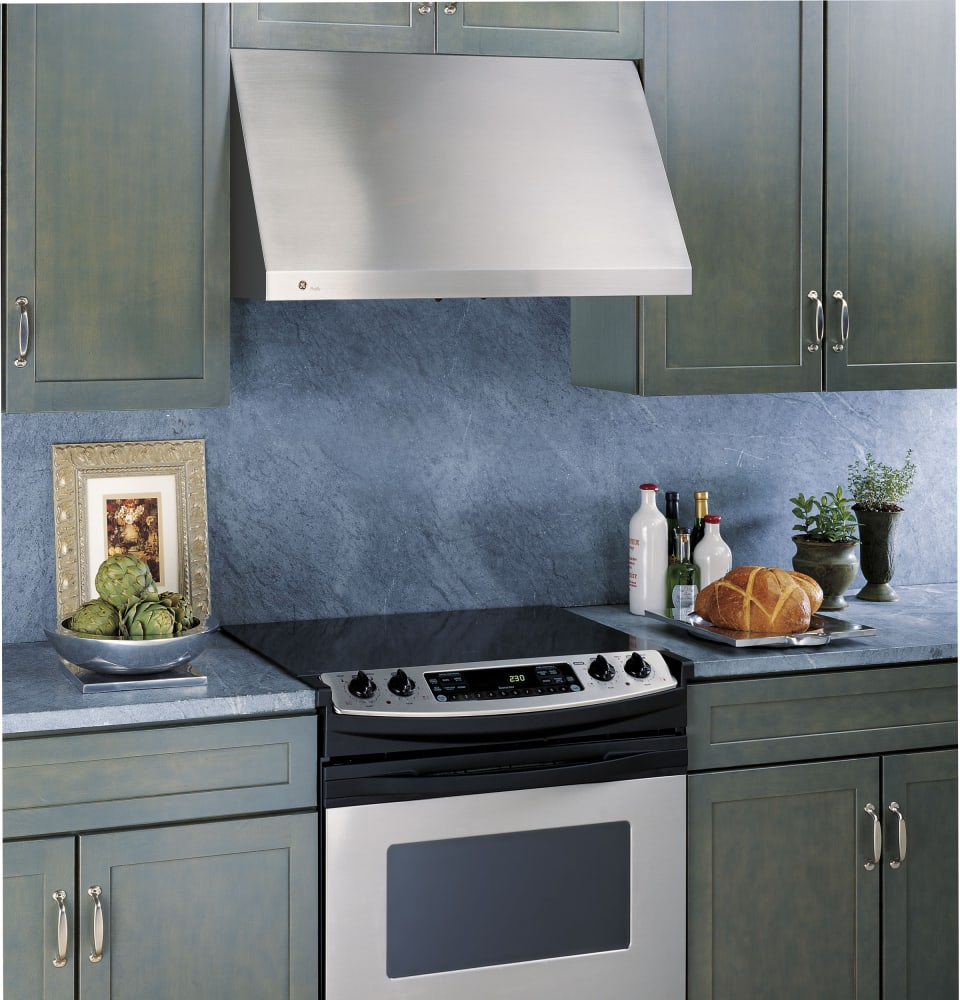 Ge Jv936dss 30 Inch Wall Mount Range Hood With 600 Cfm Blower