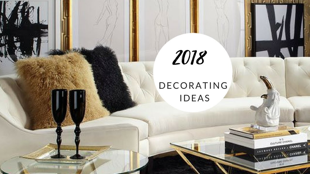 Glam Lux Living Room Ideas Black White And Gold Youtube Layjao