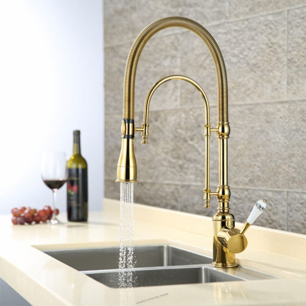 Gold Brass Kitchen Sink Faucet