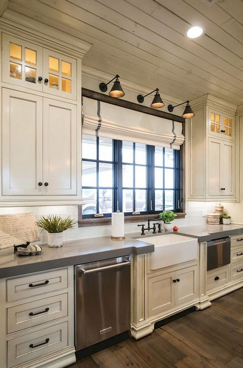 Gorgeous 85 Rustic Farmhouse Kitchen Cabinets Makeover Ideas Https