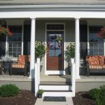 Gorgeous Front Porch Furniture With Colorful Back Seat
