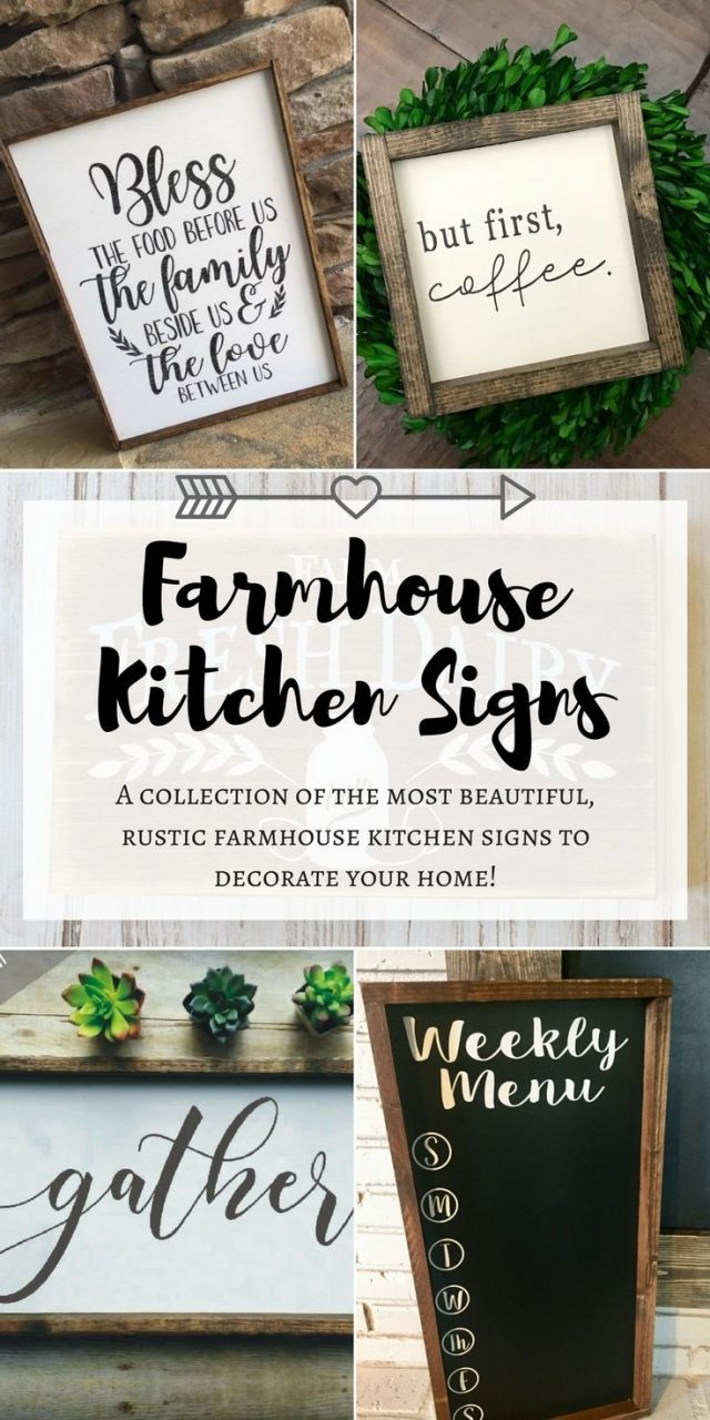 Gosh Yall I Have Found The Prettiest Farmhouse Kitchen Signs To