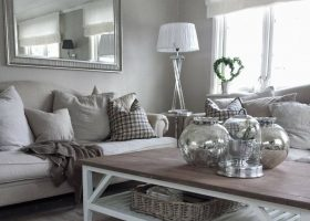 White and Silver Living Room