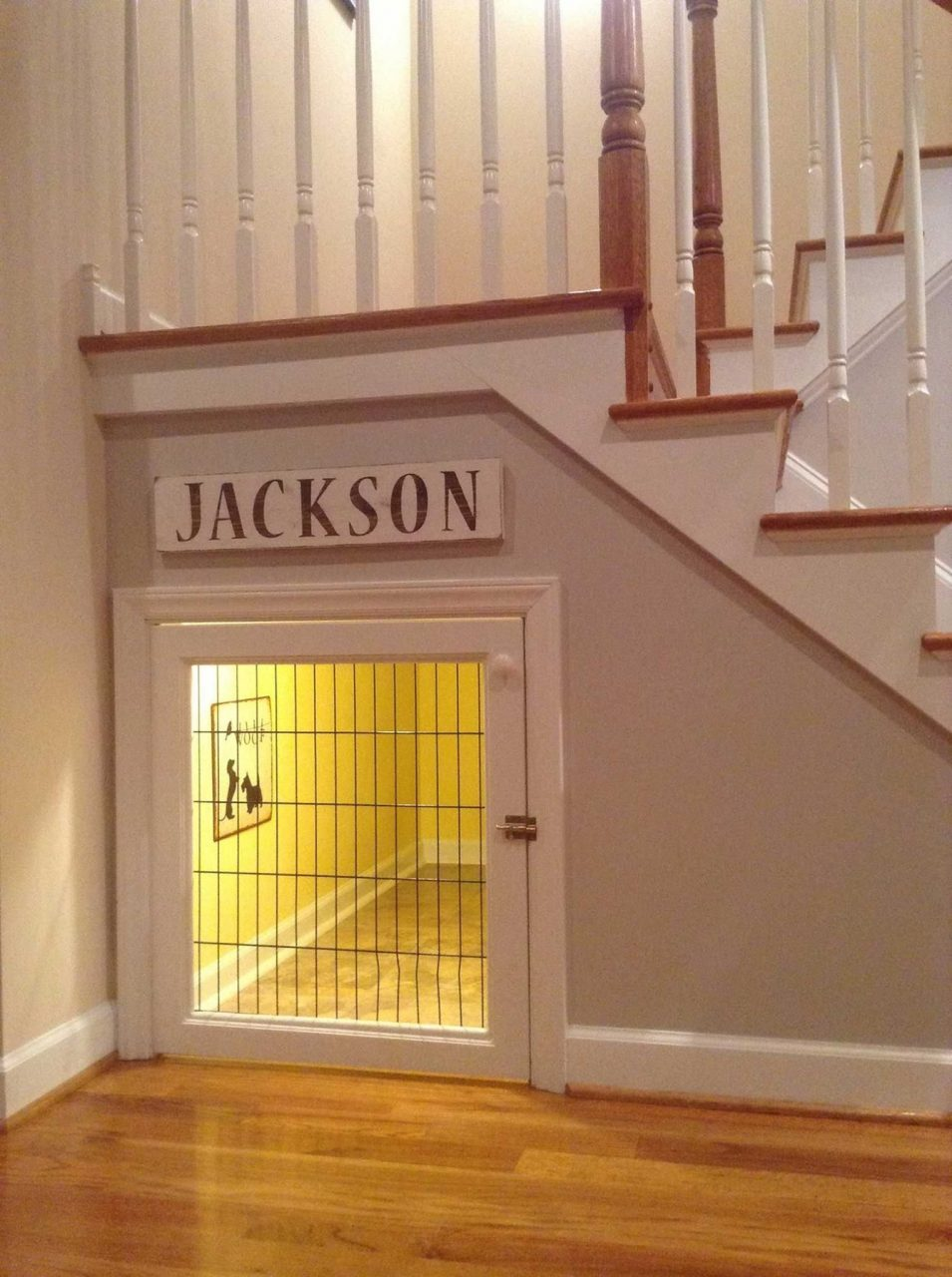 Great Use Of Under Stairs Storage Built In Dog Crate Dog