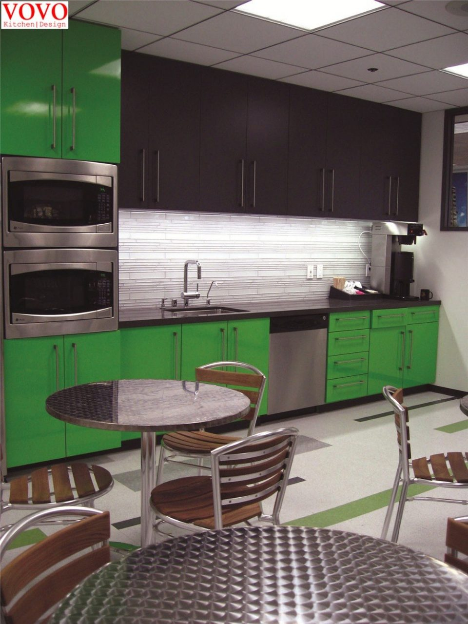 Green Lacquer Kitchen Cabinets In Kitchen Cabinets From Home