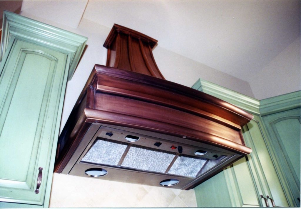 Hand Made French Country Copper Range Hoods Cabinets Design