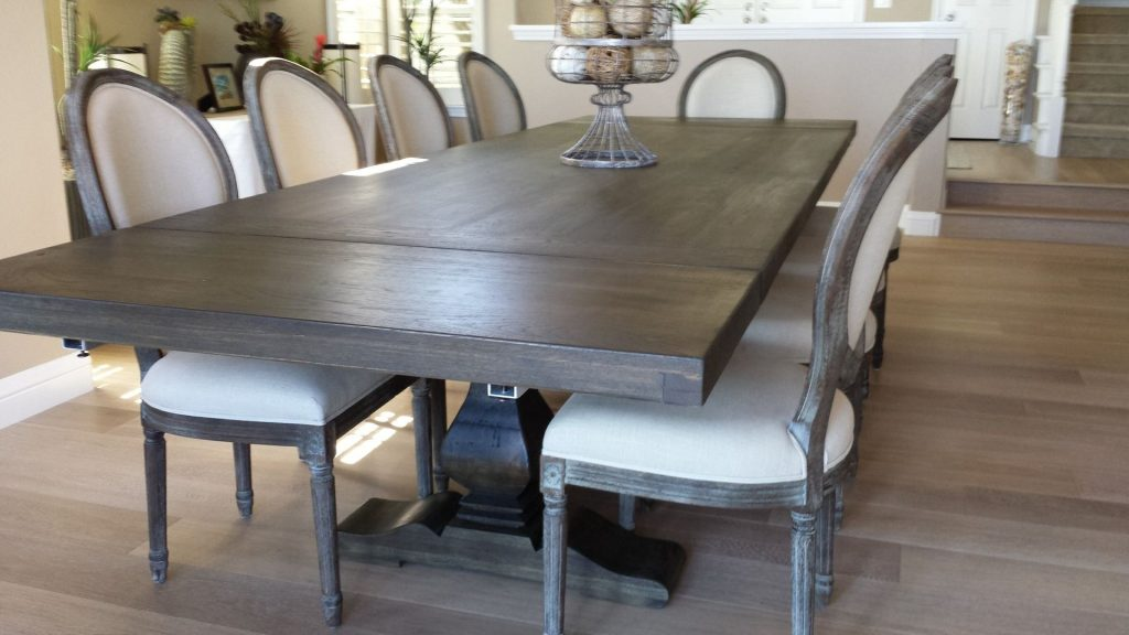 Hand Made Pecan Trestle Dining Table Santini Custom Furniture