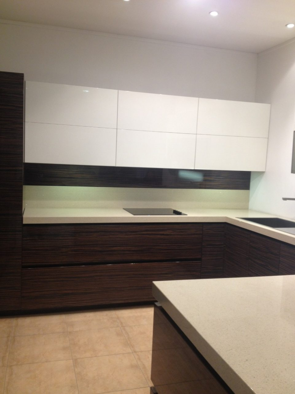 High Gloss Wood Grain Kitchen Cabinet For Uk In Kitchen Cabinets