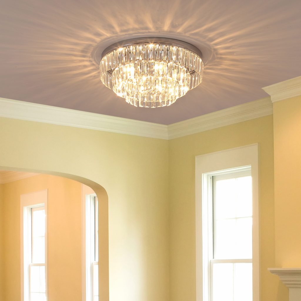 Homcom Crystal Light Ceiling Lamp Chandelier Hallway Flush Living
