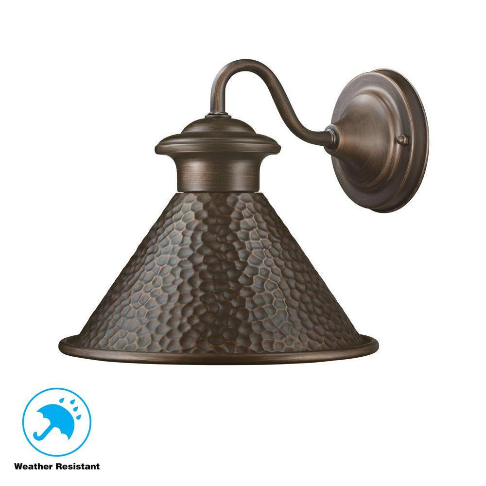 Home Decorators Collection Essen 1 Light Antique Copper Outdoor Wall