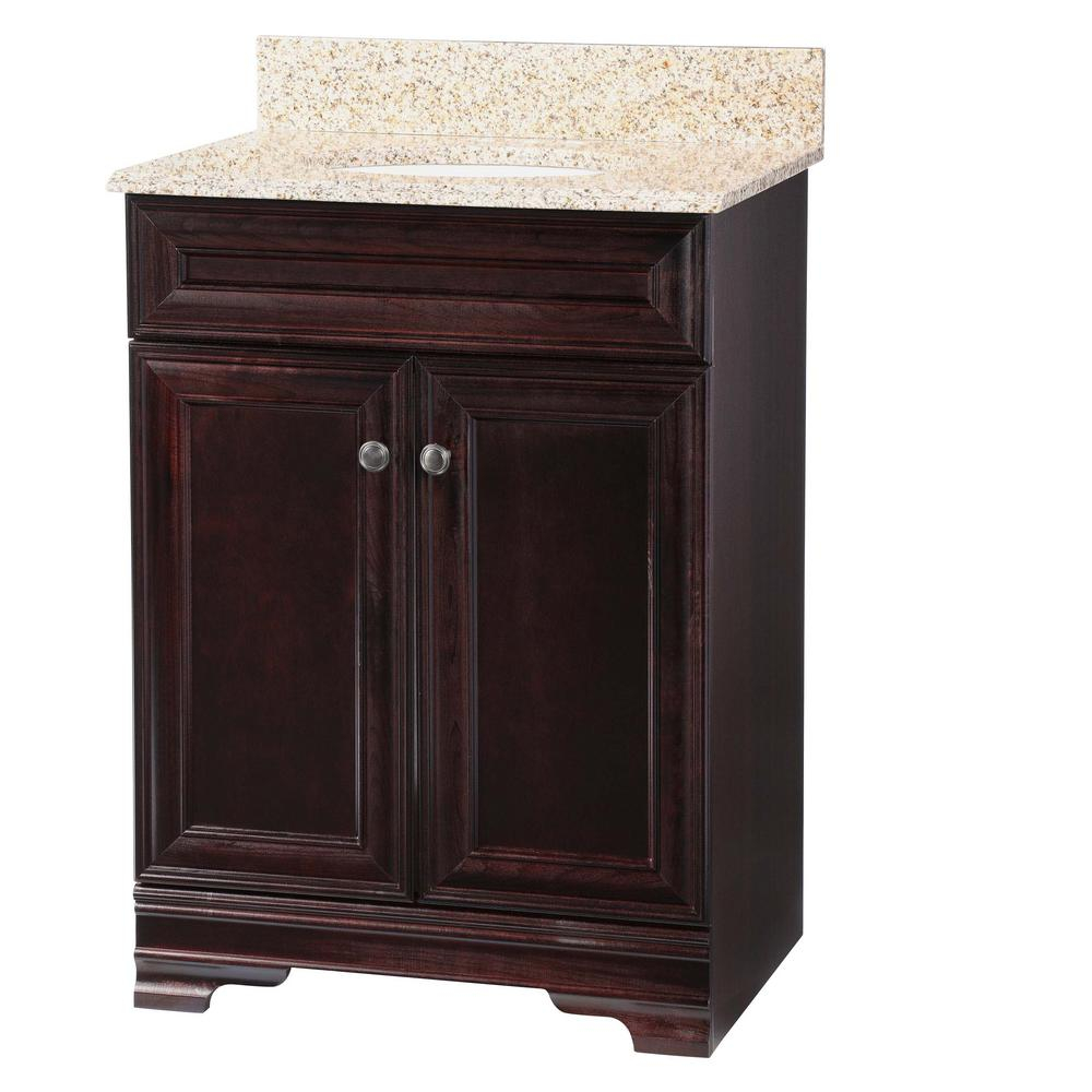 Home Decorators Collection Grafton 25 In W Bath Vanity In Crimson