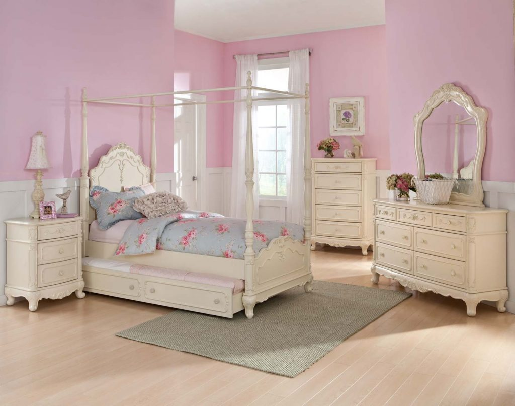 Homelegance Cinderella Poster Bedroom Set Ecru B1386tpp Bed Set