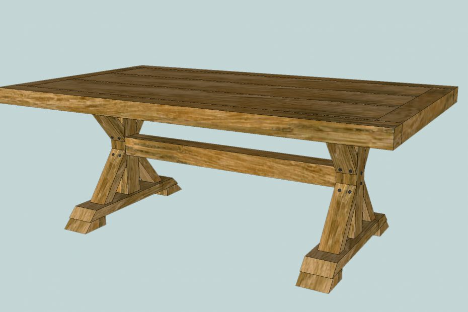 How To Build A Chunky X Farmhouse Table Pretty Handy Girl