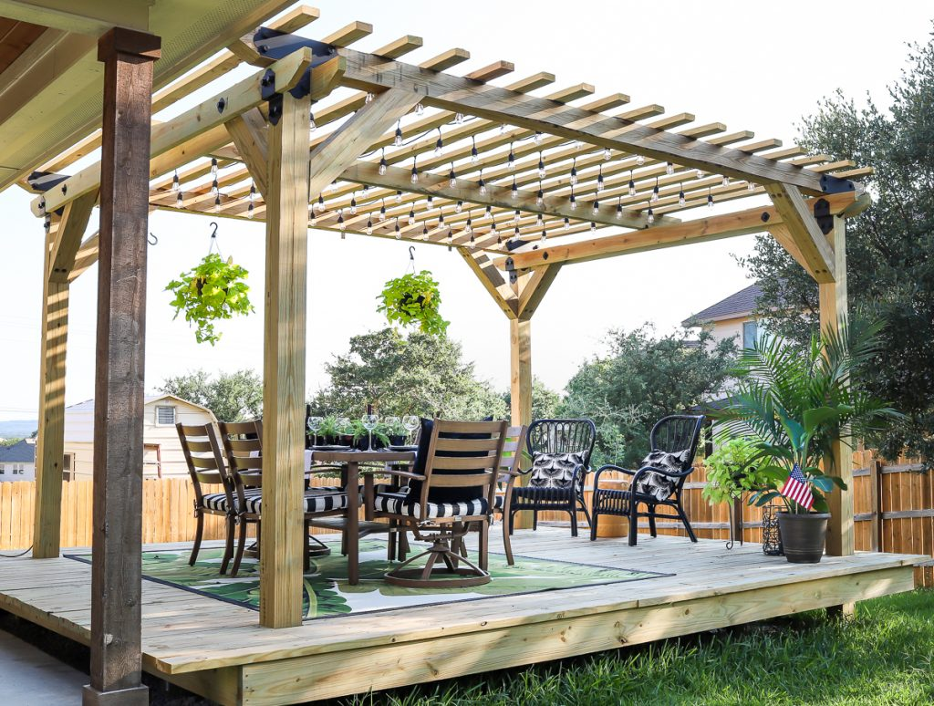 How To Build A Diy Pergola With Simpson Strong Tie Outdoor Accents