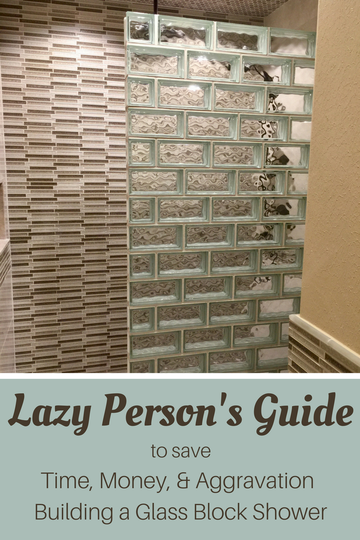How To Design And Build A Glass Block Shower Wall And Base System