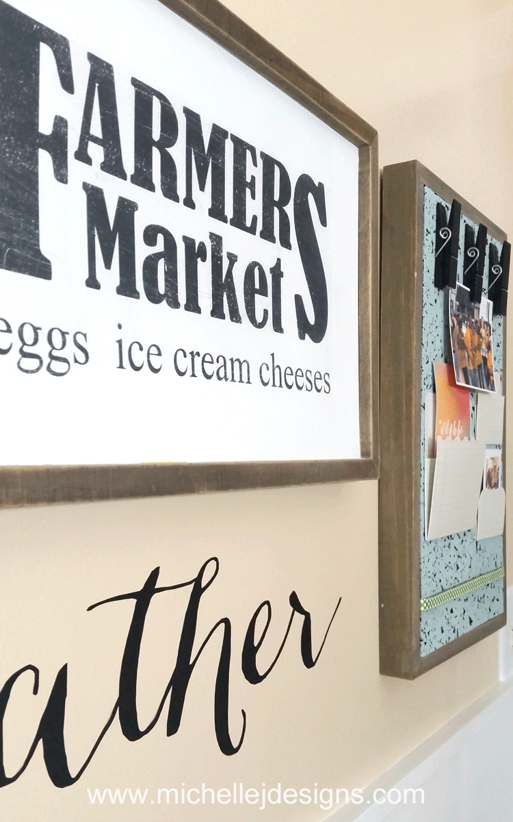 How To Make A Farmhouse Kitchen Sign From Garage Sale Wood Frames