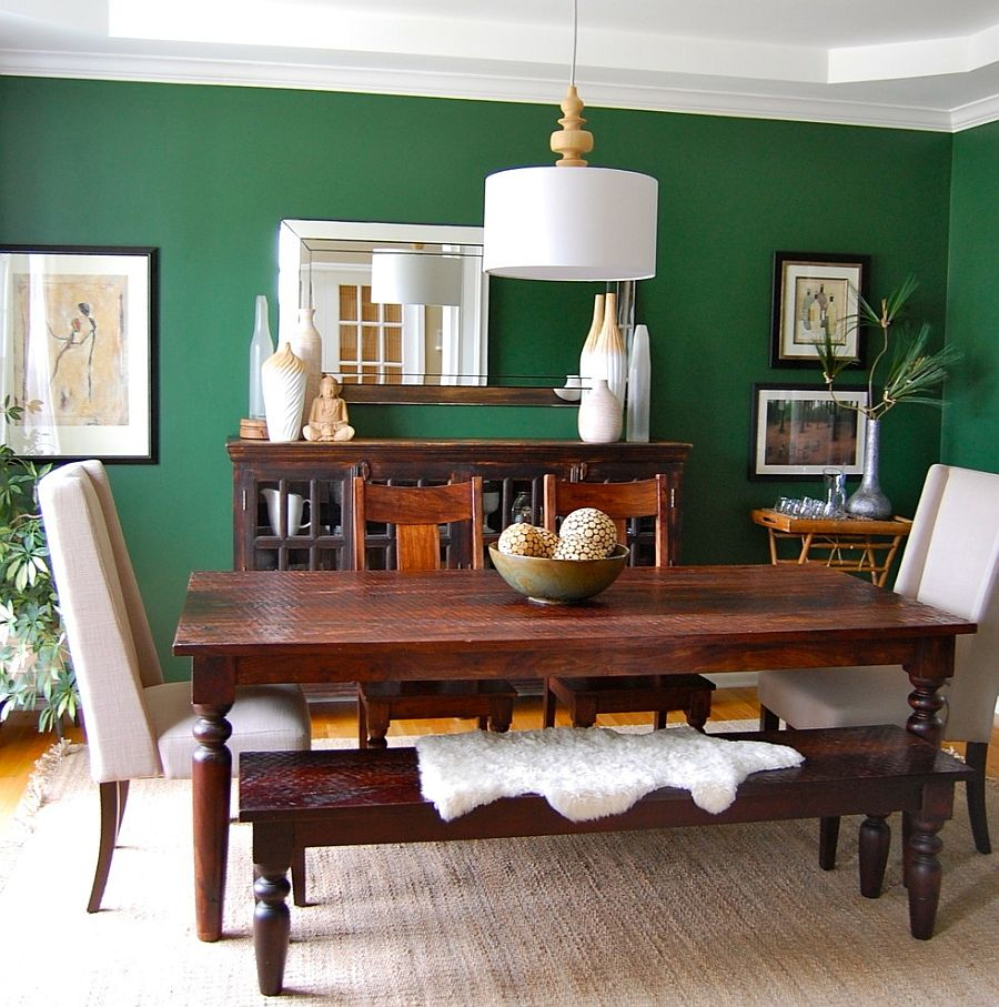 How To Use Green To Create A Fabulous Dining Room Home Decore