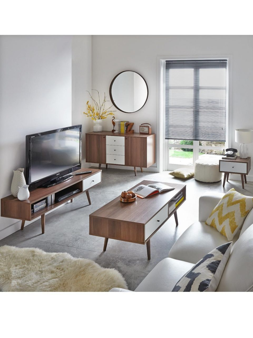 Ideal Home Monty Retro Tv Unit Fits Up To 65 Inch Tv In 2019