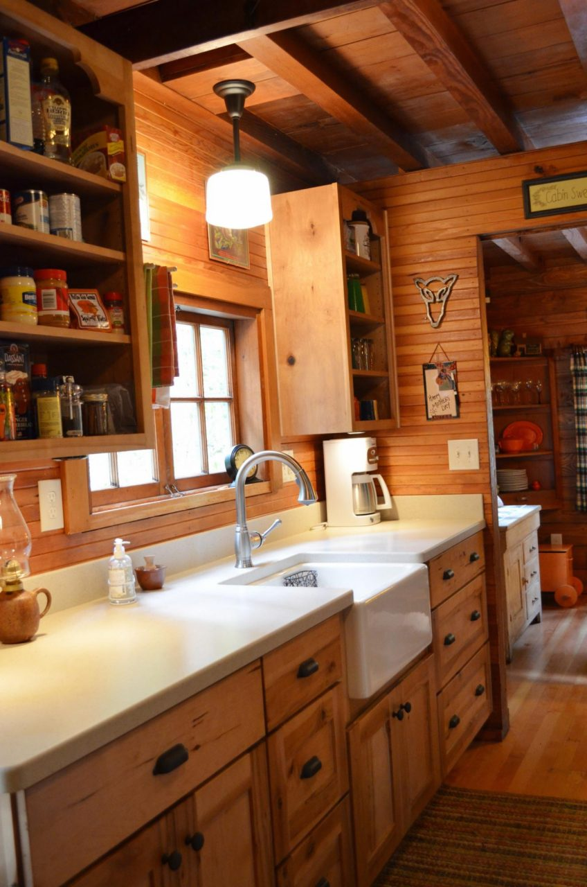 Ideas Rustic Cabin Galley Kitchen Cultivate Log Home Ideas With