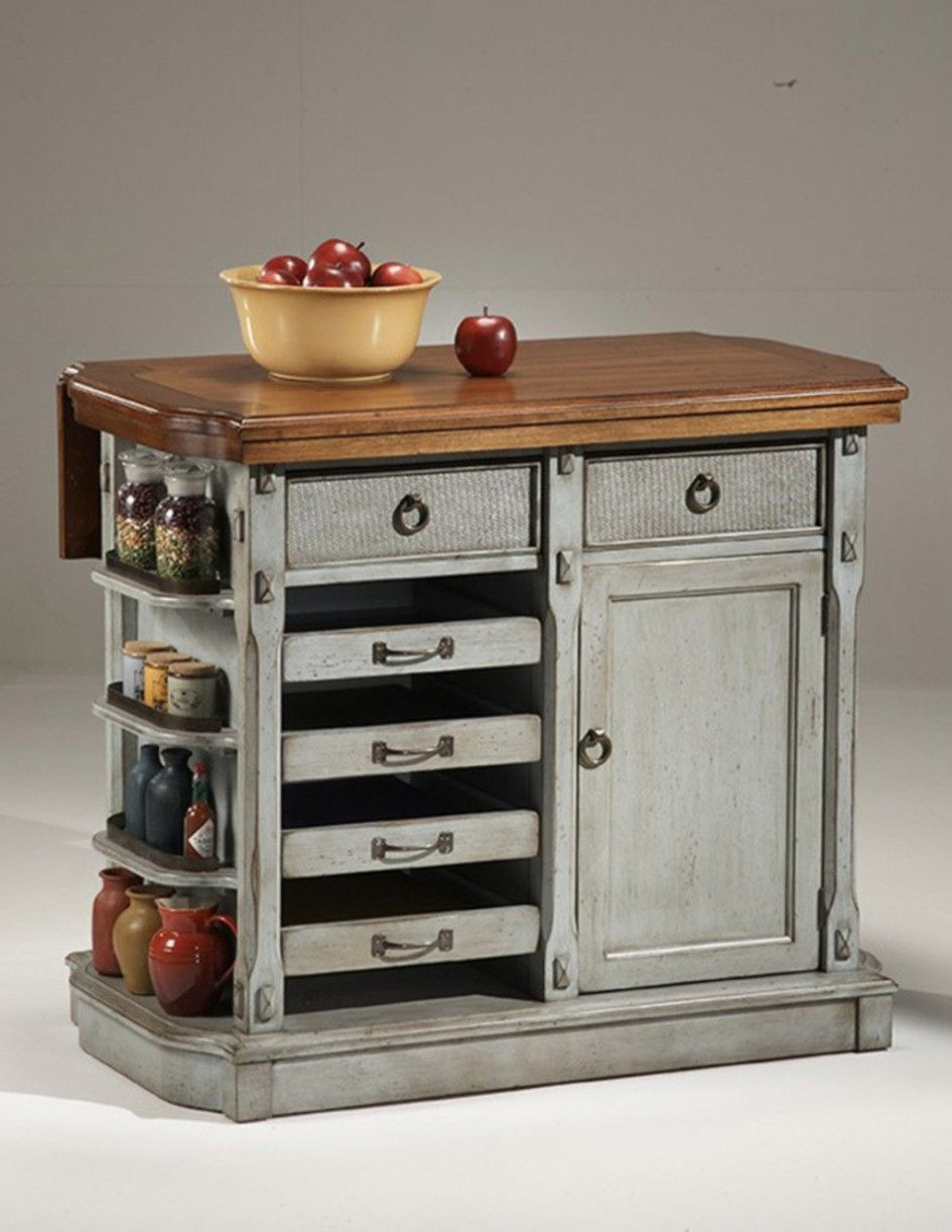 Imposing Stainless Steel Movable Kitchen Island With Heavy Duty