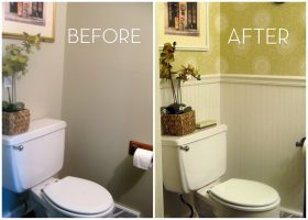 Small Half Bath Bathroom Paint Color Ideas