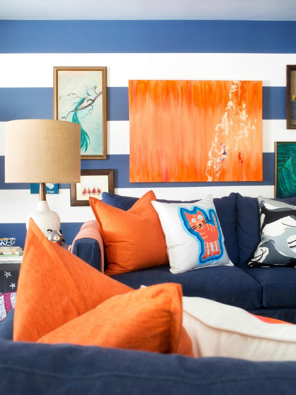 Incredible Blue And Orange Living Room Maxmanpowertruth