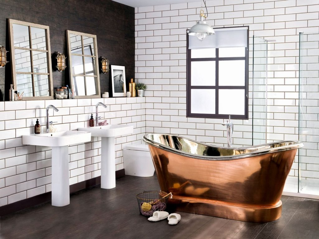 Industrial Bathroom Design Light Australianwildorg Rustic Beach