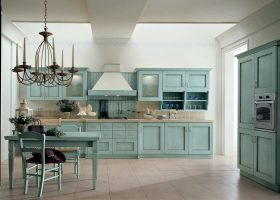 Vintage Rustic Kitchen Cabinets