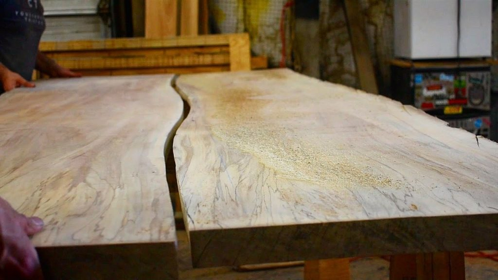 Join Boards On A Curve How To Make A Slab Table Top Youtube