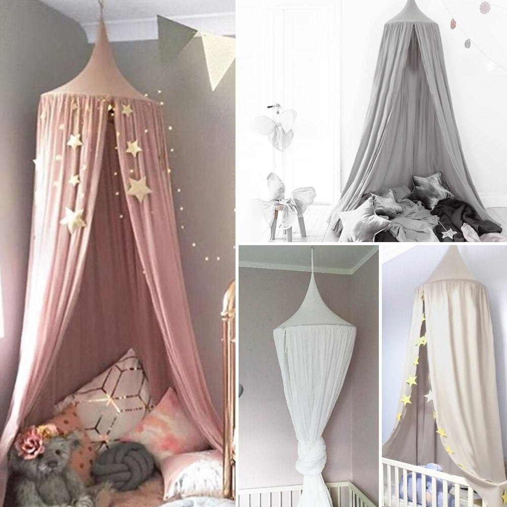 Kids Ba Bed Canopy Bedcover Mosquito Netting Princess Dome Tent