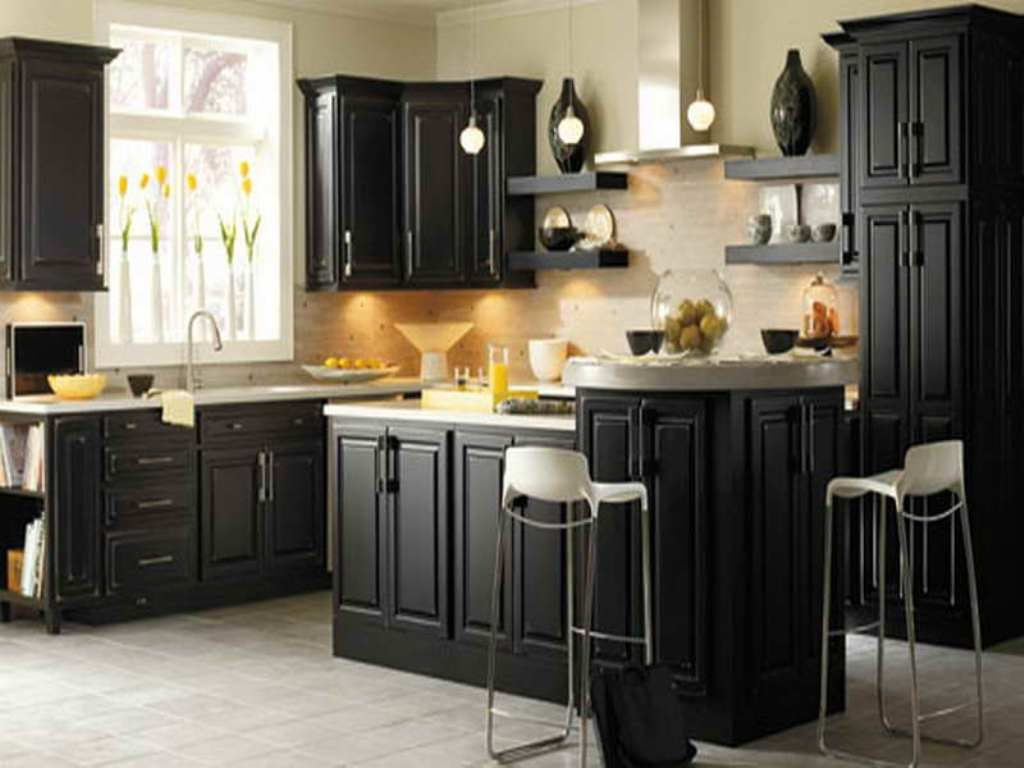 Kitchen Cool Kitchen Color Ideas Dark Cabinets 19 For Your With