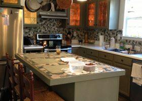 Spanish Moss Kitchen Cabinets