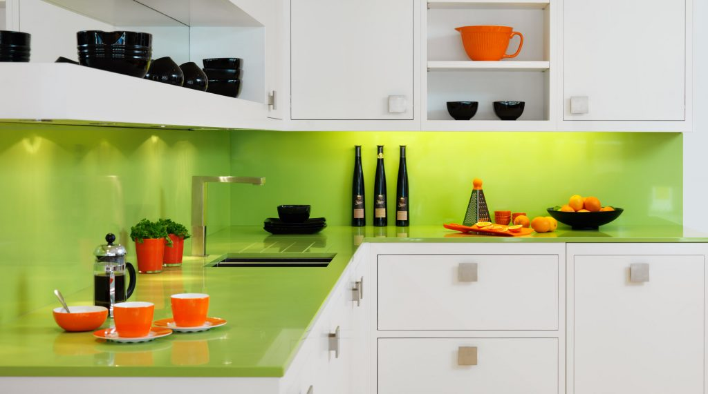 Kitchen Cute Green Apple Kitchen Decorating Ideas With White
