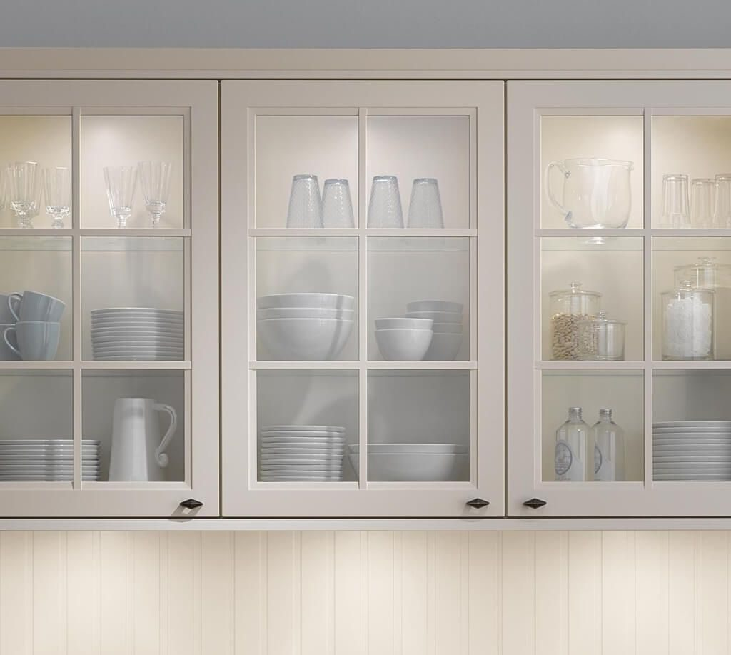 Kitchen Design Astounding Clear Glass Cabinet Doors And White