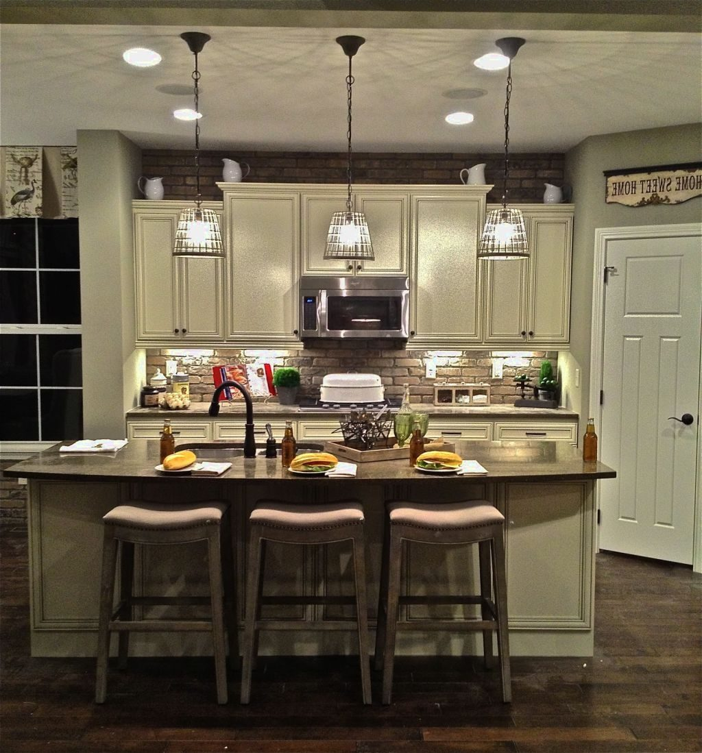 Kitchen Design Gallery Hanging Pendant Lights Over Island Ideas In