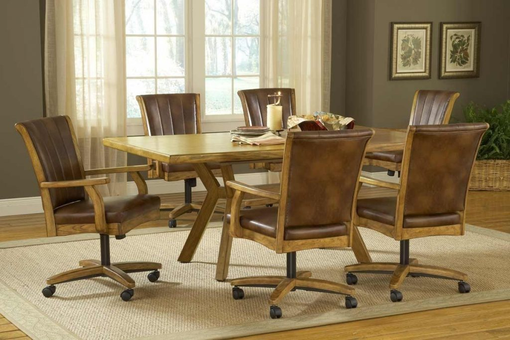 Kitchen Dinette Sets With Caster Chairs Home Decoration