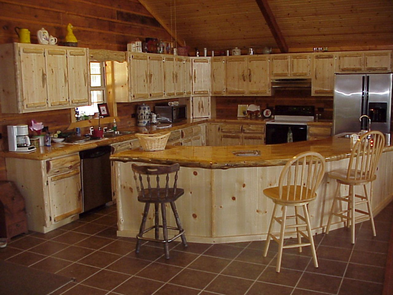 Kitchen Example Of Cabin Kitchen Ideas Small Log Cabin Kitchens Layjao