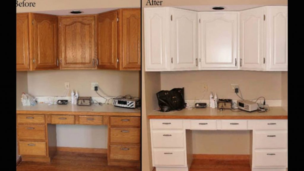 Kitchen Painting Wooden Kitchen Cupboards Youtube For Elegant Wood