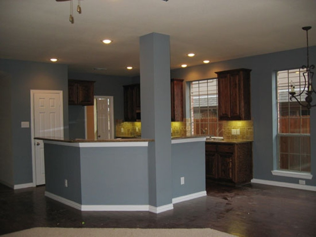 Kitchen Wall Color For Dark Cabinets With Charming Gallery Layjao