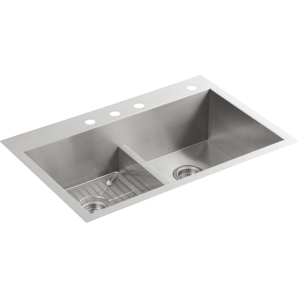 Kohler K 3838 4 Na Vault Stainless Steel Kitchen Sinks Sinks