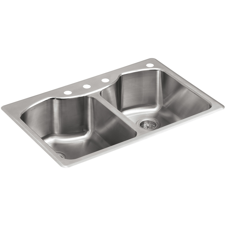 Kohler Octave 33 In X 22 In Stainless Steel Double Basin Drop In 4